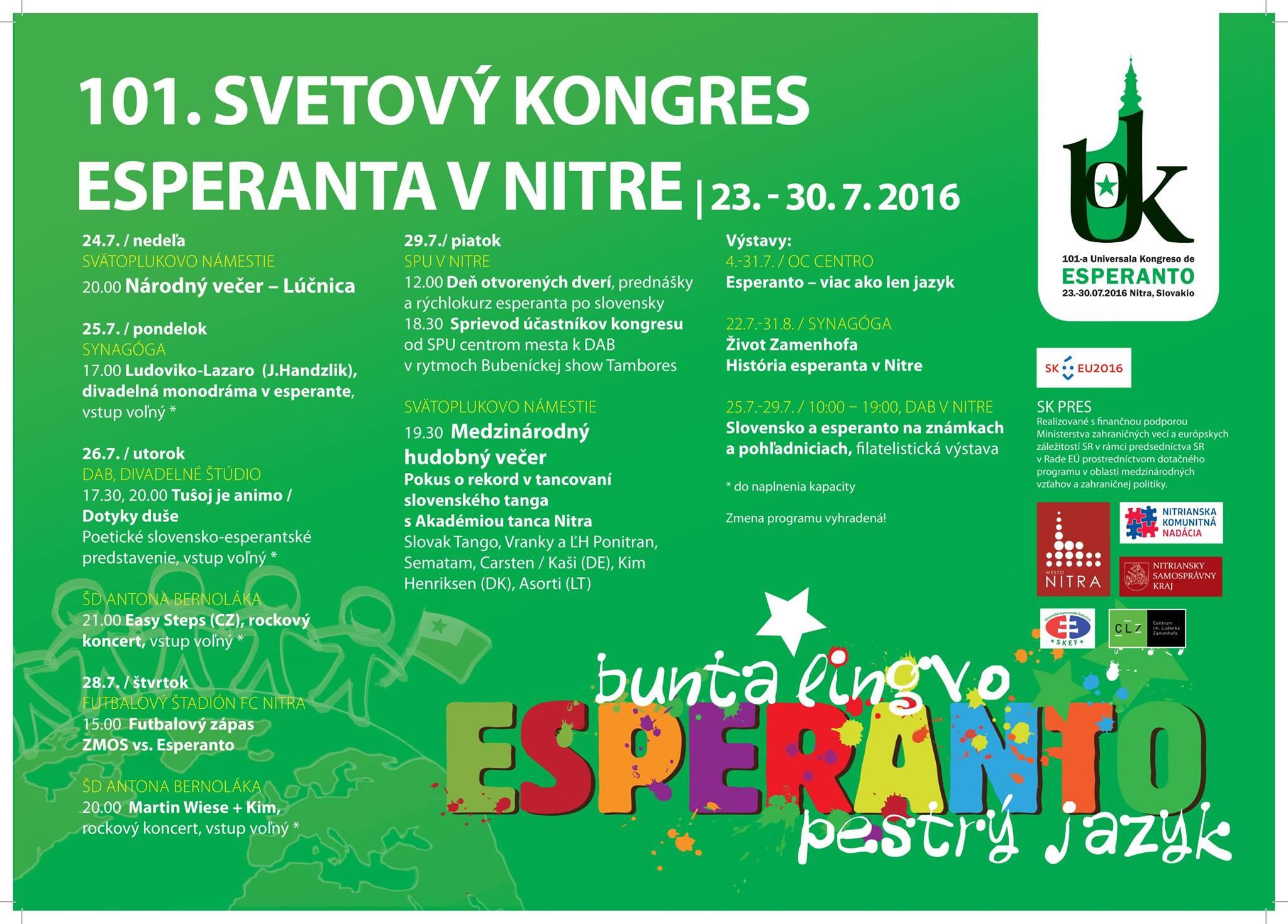 101. Svetový kongres esperanta - pozvánka n - Kam v meste  060eaaba2b8