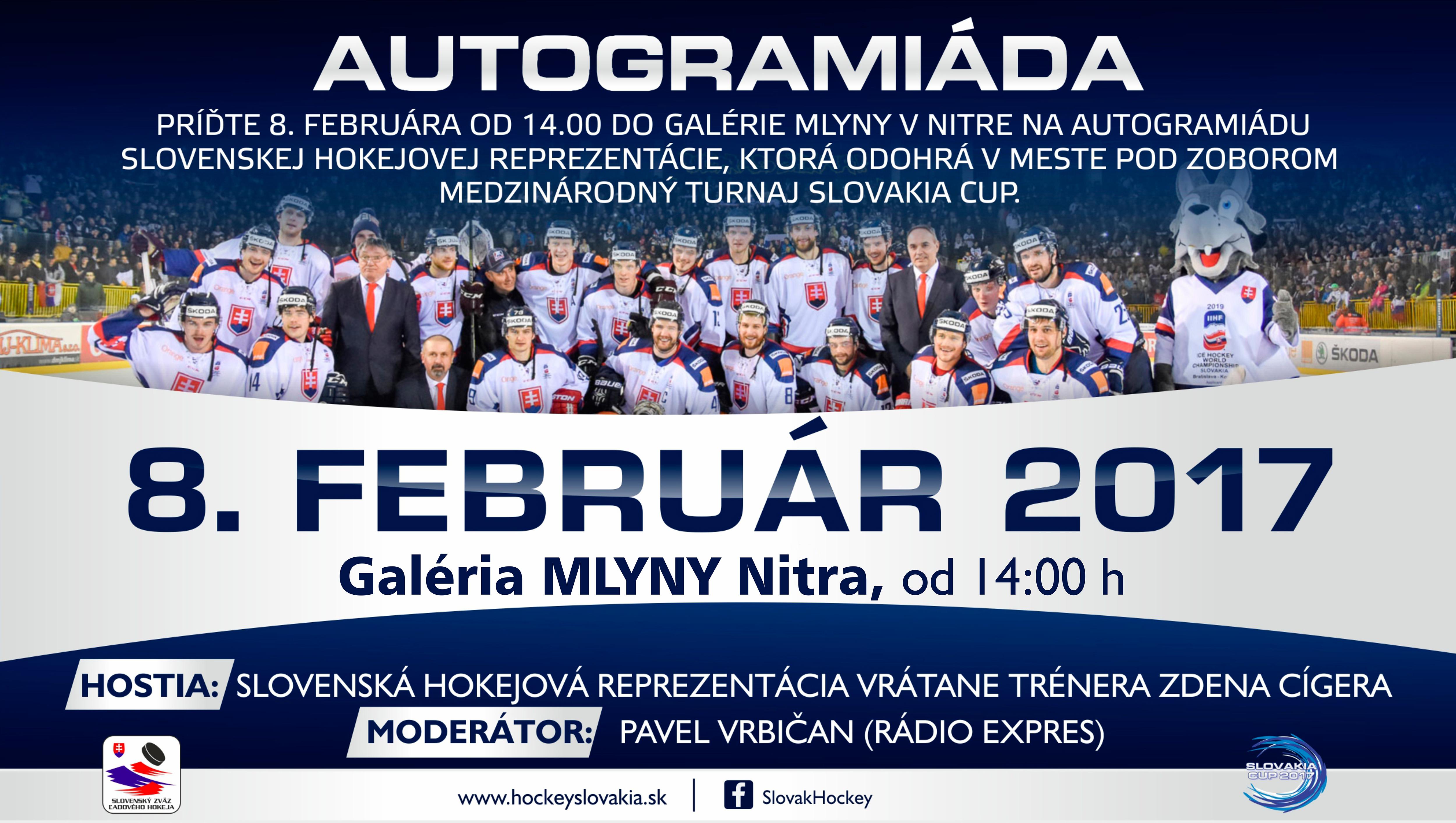 Autogramiáda slovenskej hokejovej reprezent - Kam v meste  d9854e4a03e